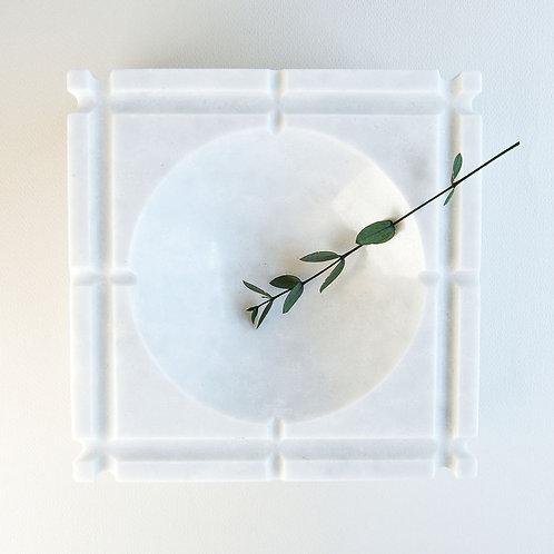 Ashtray Nestor Honed White Marble