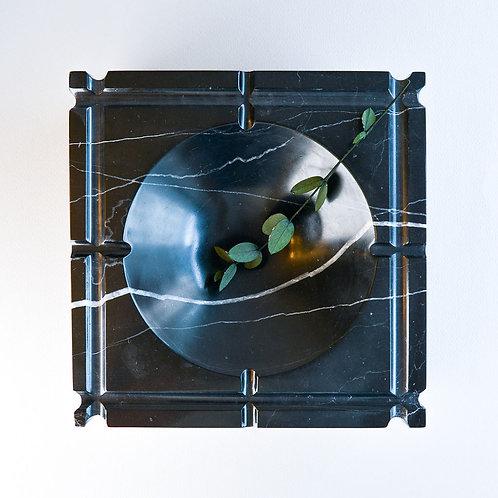 Ashtray Nestor Black Marble