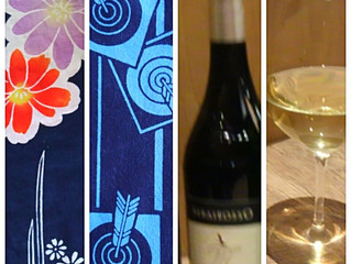 By a yukata, wine