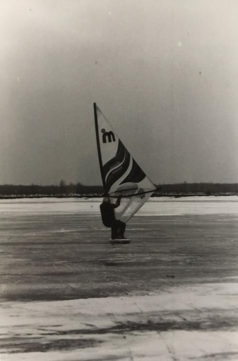 Voile sur glace 1986  Archives du Musée de Lachine