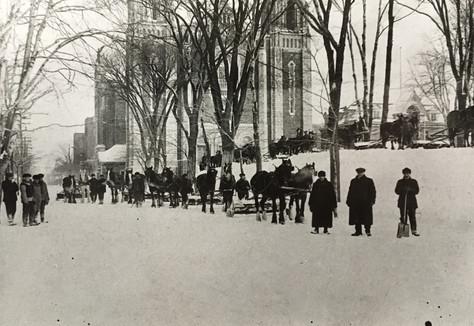 Déblayage des rues Archives du Musée de Lachine