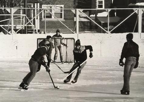 Hockey extérieur Festival des neiges 1986 Archives du Musée de Lachine