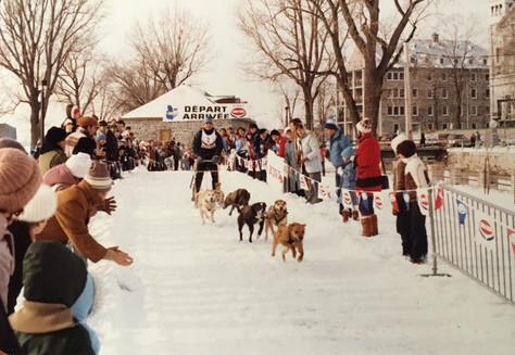 Course de traineaux à chiens fin années 1980 Archives du Musée de Lachine