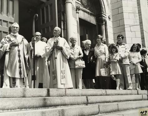 Messe à l'église des Saints-Anges 300e anniversaire de Lachine 1967 Archives du Musée de Lachine