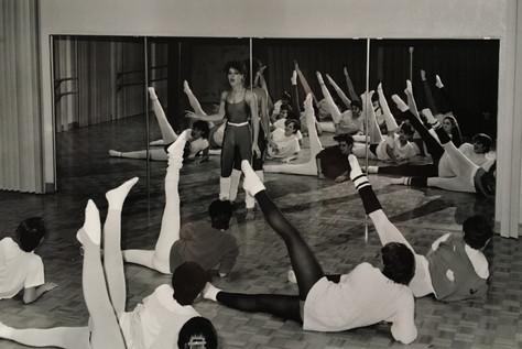 Classe d'aérobie années 1980 Archives du Musée de Lachine