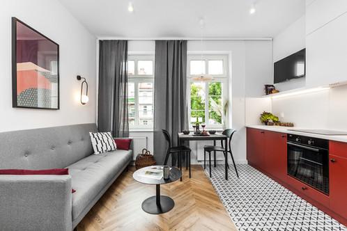 Mieszkanie dwupokojowe - Gdańsk Oliwa (24,2 m)