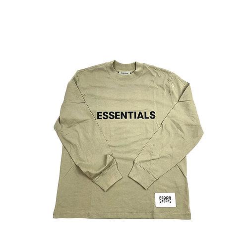 ESSENTIALS X FEAR OF GOD Long Sleeve T-shirt 'Olive'