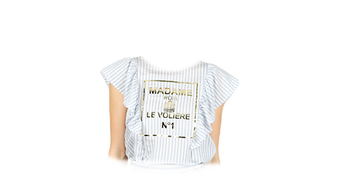 Printed  Top a righe - Le Volière