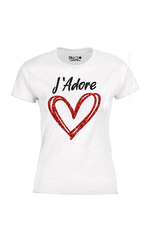 T-shirt j'ador   -Narciso