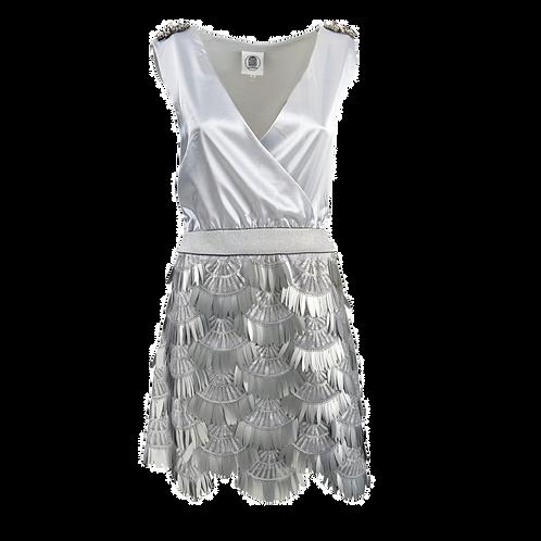 Vestito Argento con gonna di paillettes - Le Volière