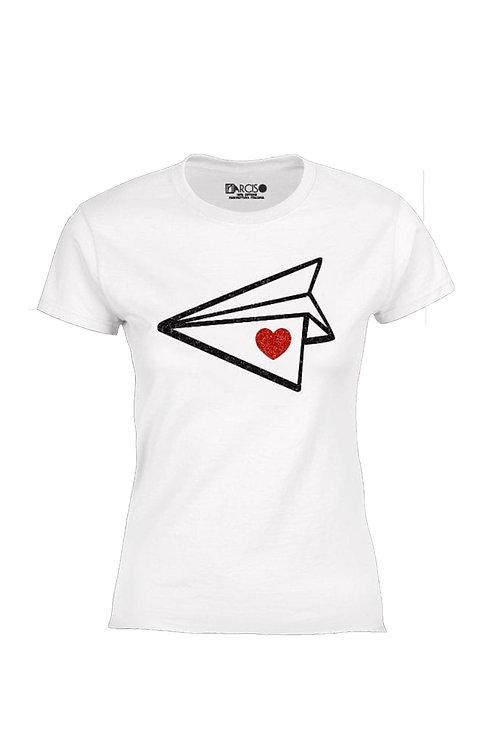 T-shirt aeroplano love  -Narciso