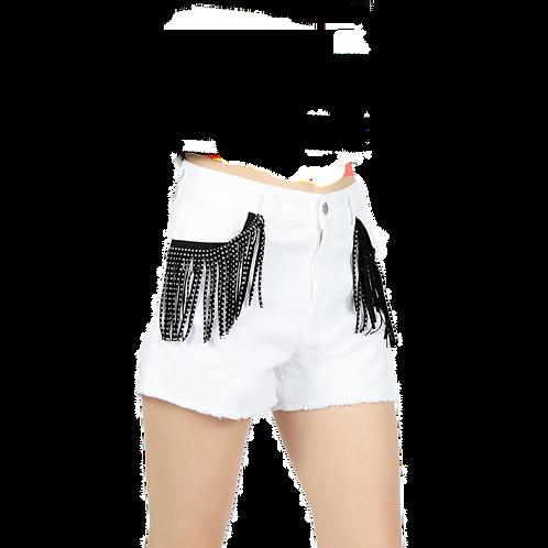 Pantaloncini bianchi con frangie - Le Volière