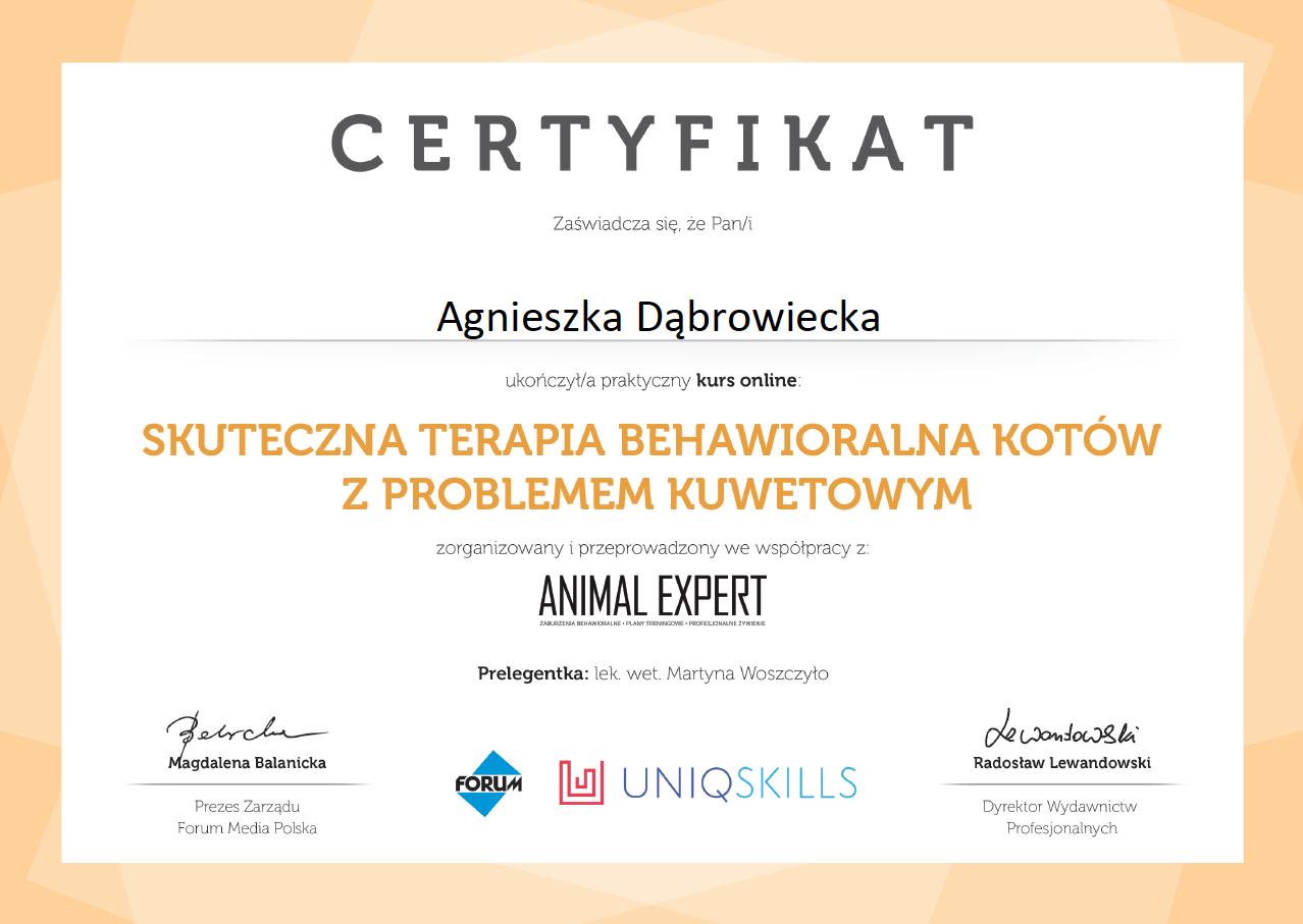 certyfikat kurs kuwetowy