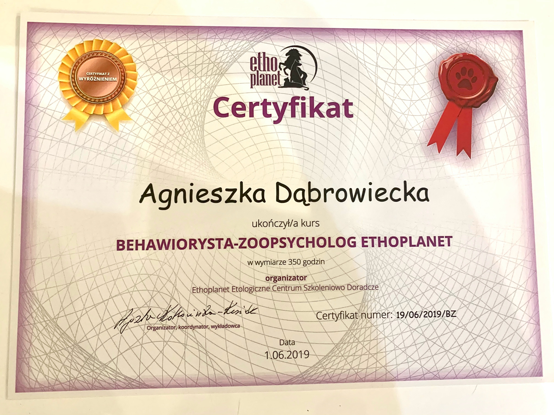 Behawiorysta zoopsycholog