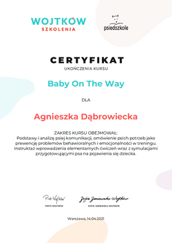 Baby on the Way - Wojtków szkolenia - ce