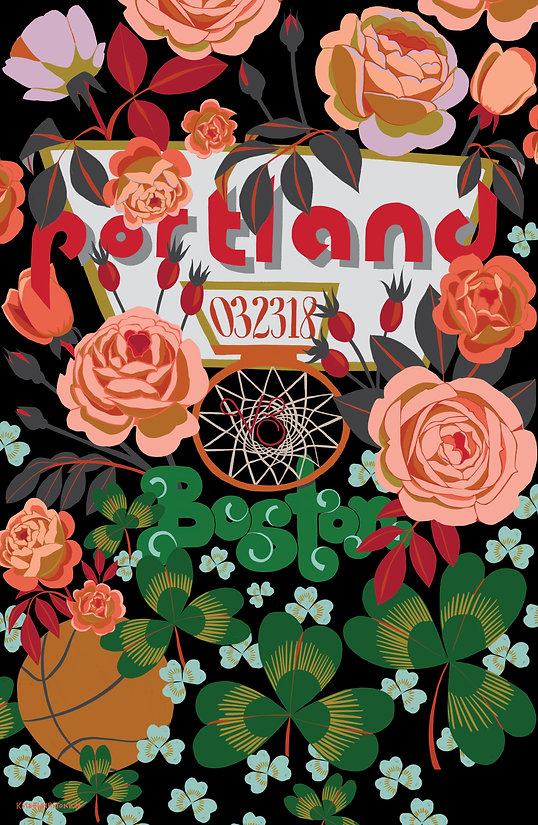Portland Trail Blazers Gameday Poster by Kate Blairstone
