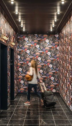 Series of custom wallcoverings inspired by Pike Place Market for The State Hotel, by Kate Blairstone