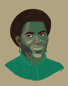 Portrait of Octavia Butler by Kate Blairstone