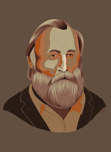 Portrait of Frank Herbert by Kate Blairstone