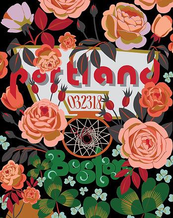 Blazers Gameday Poster Portland vs. Boston by Kate Blairstone