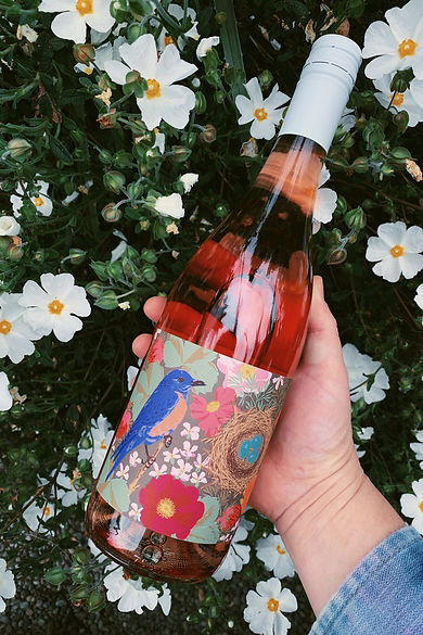 Anne Amie Vineyards Rosé of Pinot Noir, label by Kate Blairstone