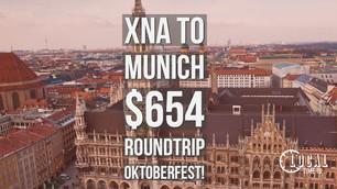 XNA and Little Rock to Munich $640 during Oktoberfest!