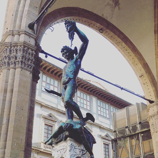Piazza Vecchio statue in Florence Italy