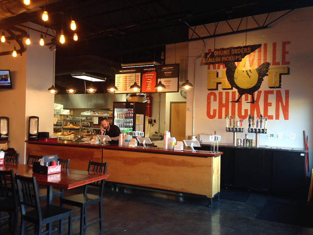 Interior of Pepperfire Hot Chicken in Nashville TN