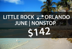 LITTLE ROCK TO ORLANDO $142 DIRECT IN JUNE