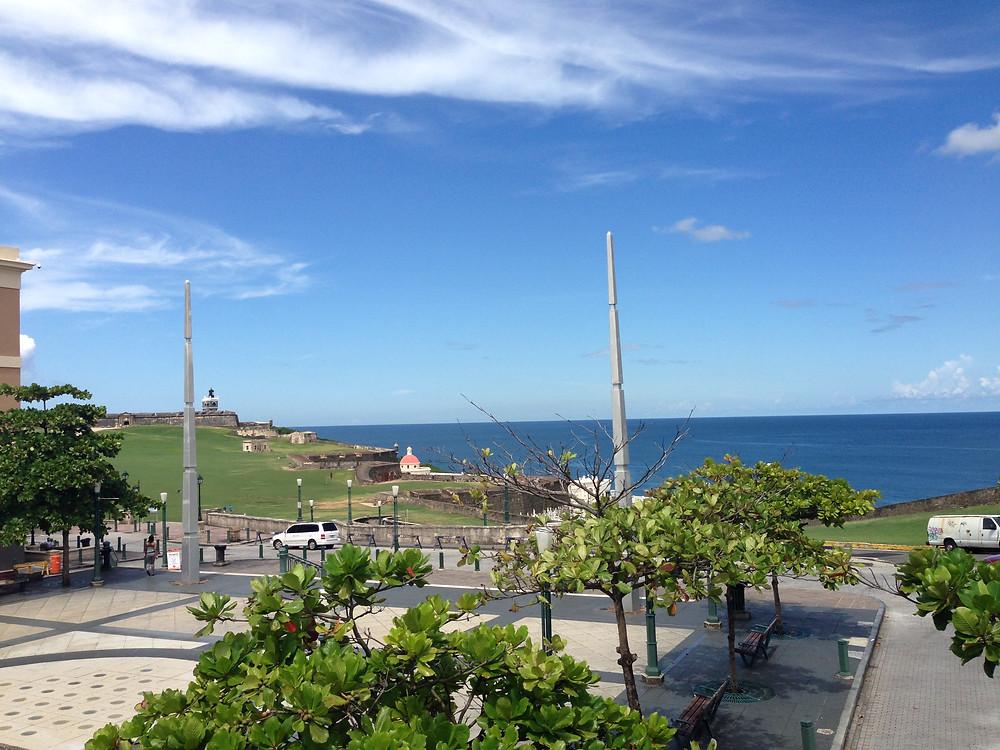 Beach view in San Juan Puerto Rico