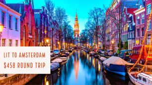 LIT to Amsterdam $458 Roundtrip