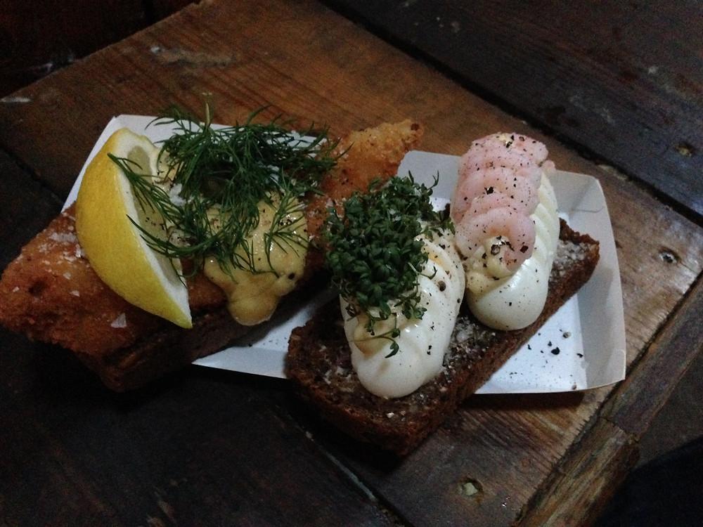 Smørrebrød in Copenhagen Denmark