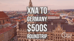 XNA to Germany $500s Several Cities