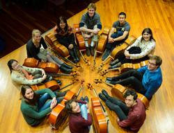 Cellists of Otago, Dunedin, Sept 2014