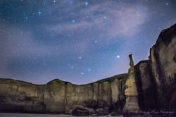 Tunnel Beach, Dunedin,-Starry Night