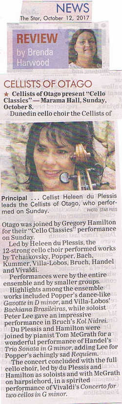 Cello Classics - Review in The Star