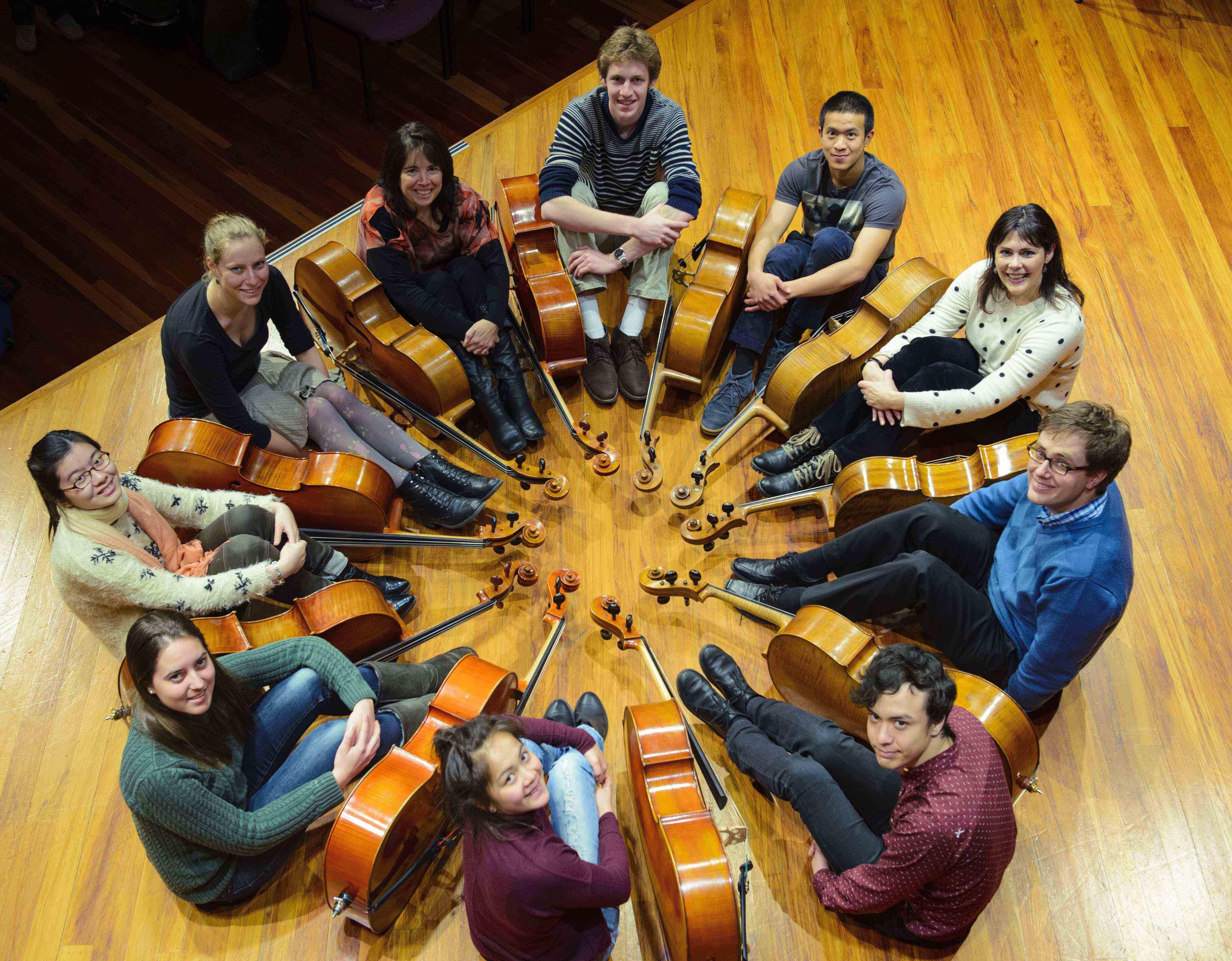 Cellists of Otago 22 Sept 2014