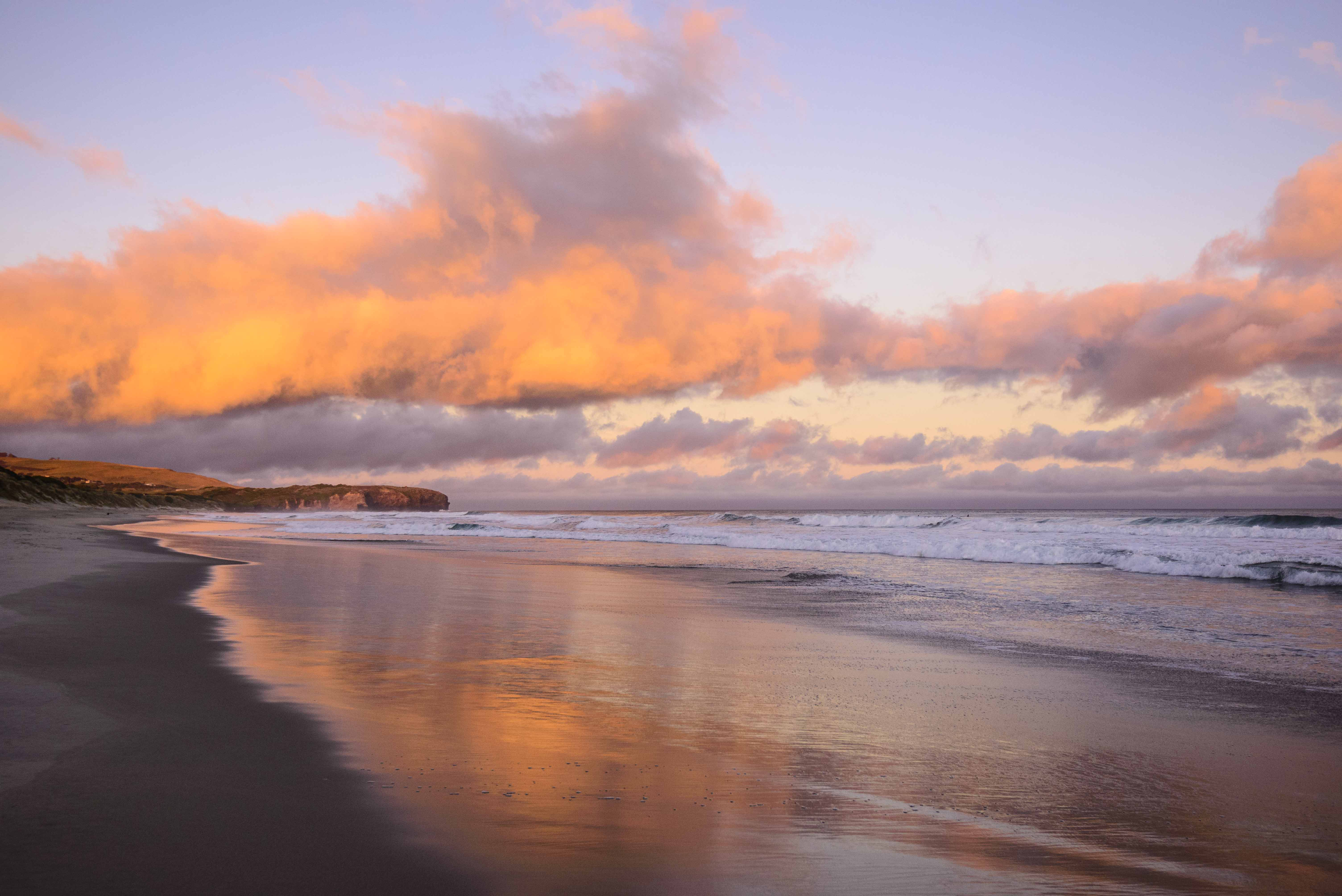St Kilda Beach, Dunedin sunset