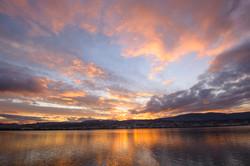 Vauxhall sunset, Otago Harbour
