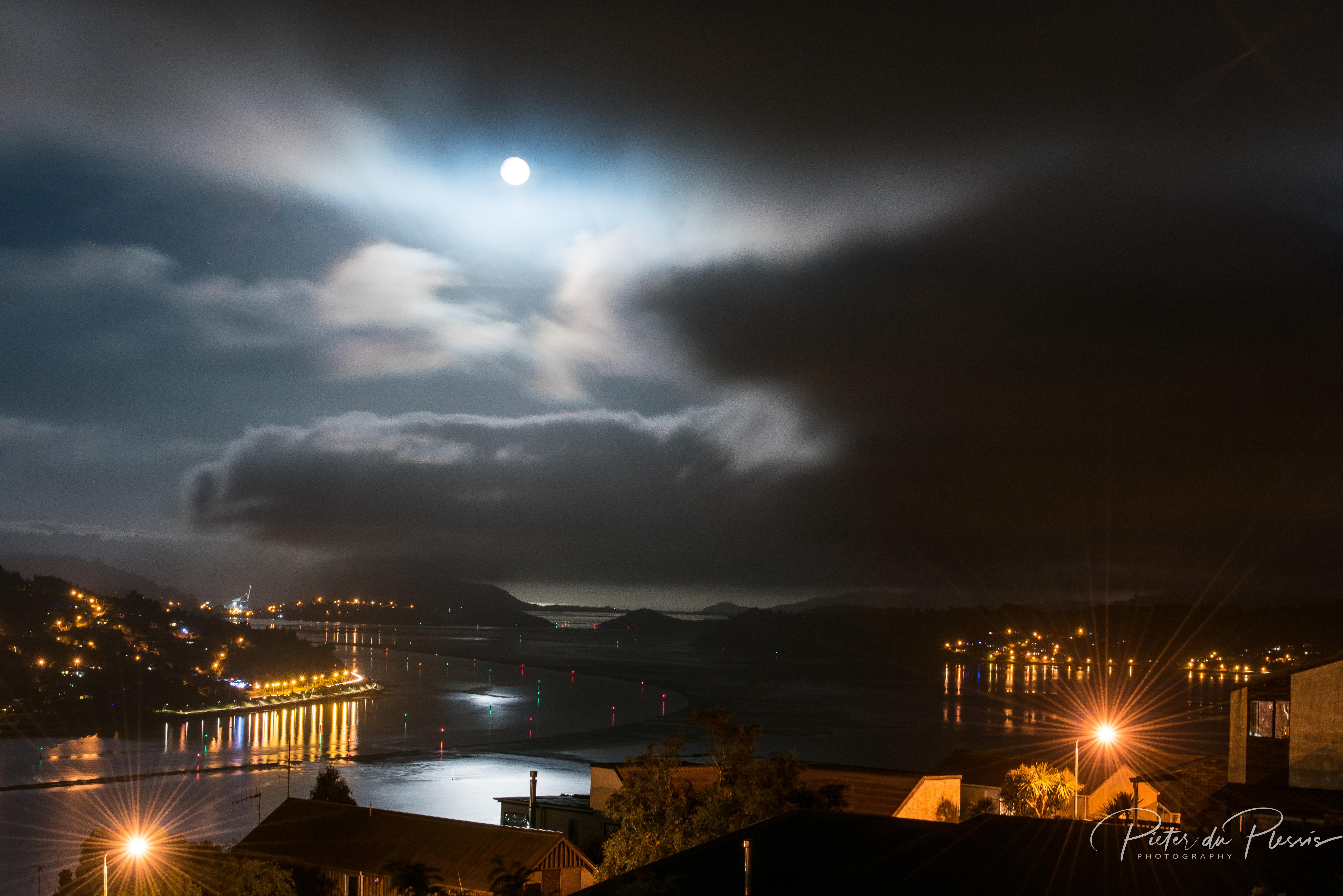 Xmas Moon, Dunedin, NZ -3