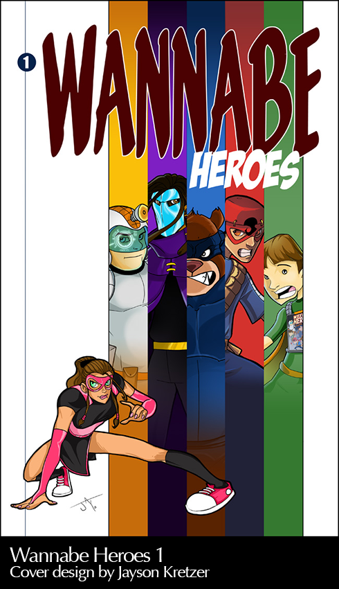 Wannabe Heroes Comic Cover