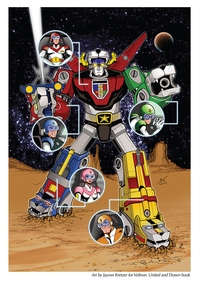 Published Voltron Pin-up