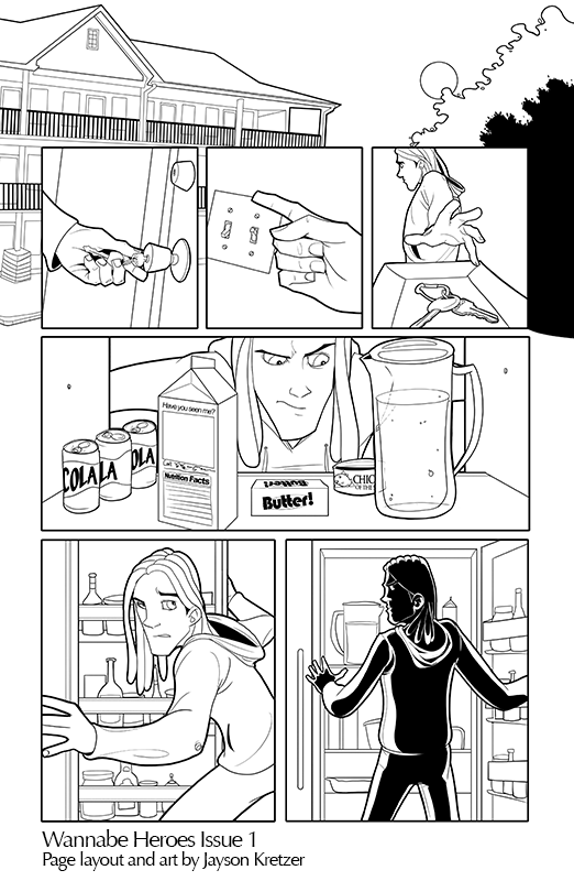 WBH Issue 1 Page art