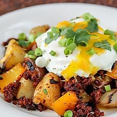Chorizo Hash & Eggs
