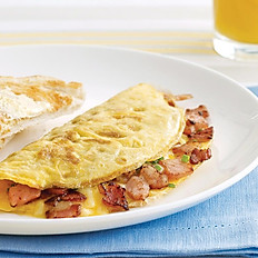 Bacon & Three Cheese Omelet