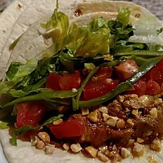 BBQ Pulled Jackfruit & Peanut Tacos
