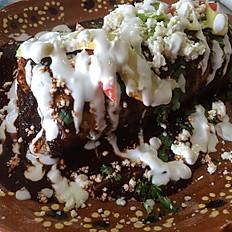 Smothered Mole Poblano Carnitas Burrito