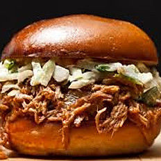 Chipotle Peanut BBQ Pulled Pork Sandwich