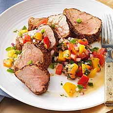 Grilled Pork  Tenderloin with Peach Salsa
