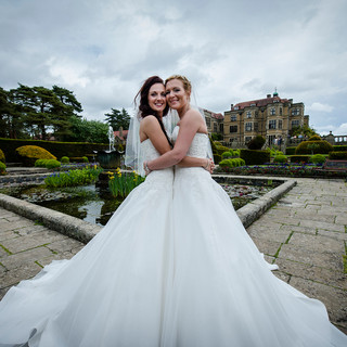 Two brides one dress   Eloise & Kelly